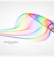 colorful wave abstract background vector image vector image