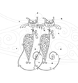 Couple of cats silhouette for your design vector image vector image