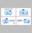 covid19 diagnostics test landing page template set vector image