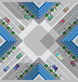 crossroads in town vector image vector image