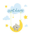 cute flat hand drawn vector image vector image
