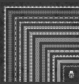 decorative corner borders and frames on chalkboard vector image