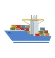 Delivery Service Company Large Cargo Boat vector image vector image