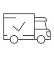 delivery thin line icon shipping and service vector image