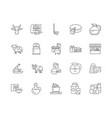 diary products line icons signs set vector image vector image