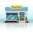 different store iconrealistic shoe shop vector image vector image