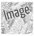Does Your Company Need an Image Consultant Word vector image vector image