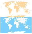 dotted world map in flat style created by round vector image