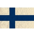 Finland paper flag vector image vector image