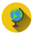 Flat design icon of Globe in ui colors vector image