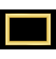 Gold frame Beautiful simple golden black style vector image vector image