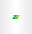green logo letter s number 5 five vector image