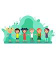group children holding hands friendship vector image vector image