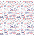 hand drawn seamless pattern of speech bubbles vector image