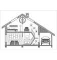 house4 vector image vector image