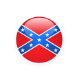 icon with flag of confederate rebel - csa symbol vector image