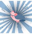 im superman cute cartoon pig vector image vector image