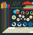 Infographics elements with graphs vector image vector image
