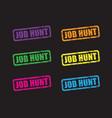 job hunt set vector image vector image