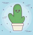 kawaii cactus in a pot icon vector image vector image