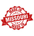 made in missouri round seal vector image vector image