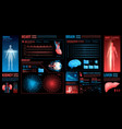 medical dark interface elements vector image vector image