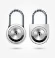 modern padlock - round locker door lock icon vector image