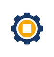 money symbol combined with gear vector image