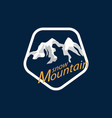 mountain business image vector image vector image