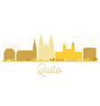 quito city skyline golden silhouette vector image vector image