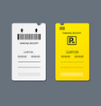 realistic 3d detailed parking tickets set vector image vector image