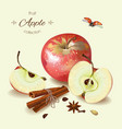 Realistic of apple vector image