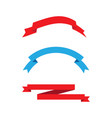 ribbon banner vector image vector image
