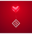 romantic element with red vector image vector image