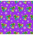 seamless wrapping paper - colored christmas trees vector image vector image