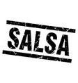 square grunge black salsa stamp vector image vector image
