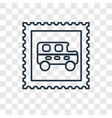 stamp concept linear icon isolated on transparent vector image vector image