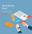 stock market news internet info page vector image