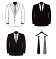 suit coats one color vector image vector image