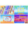 summer landscape beach composition set posters vector image vector image