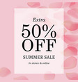 summer sale pink banner vector image vector image
