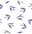 swallow pattern vector image vector image