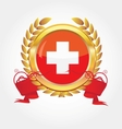 switzerland flag button vector image vector image