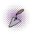 Trowel comics icon vector image vector image