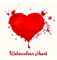 Watercolor heart vector image