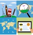 Different types of travel Business travel concept vector image
