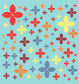 seamless geometric pattern on a green pastel vector image