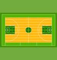 basketball field ground line playground vector image
