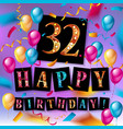 32nd years anniversary logo vector image vector image