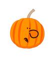 a little disgruntled pumpkin vector image vector image